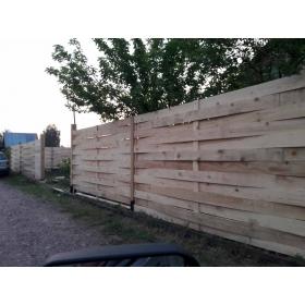 Забор сплошной плетеный из доски высотой 1,8 метра под ключ