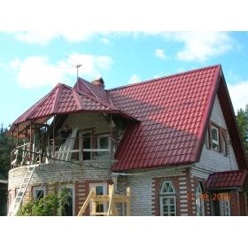 Металлочерепица Супер Монтеррей Люкс 0,45мм, RAL 3005 Красное вино Новосибирск