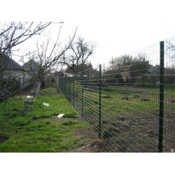 """Забор из сетки сварной с ПВХ покрытием высотой 1,5 метра под """"ключ"""""""