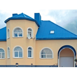 Металлочерепица СуперМонтеррей Люкс 0,4мм RAL 5005 Синий Новосибирск