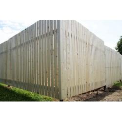 """Забор из штакетника высотой 2 метра под """"ключ"""""""