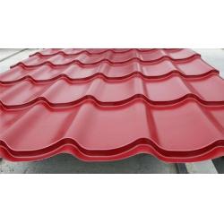 Металлочерепица СуперМонтеррей Люкс 0,4мм RAL 3005 Красное вино