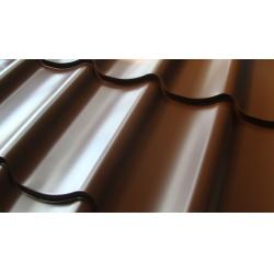 Металлочерепица Супер Монтеррей Люкс 0,45мм, RAL 8017 Шоколад Новосибирск