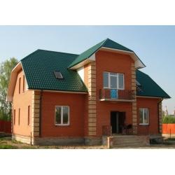 Металлочерепица Супер Монтеррей Люкс 0,45мм, RAL 6005 Зеленый мох Новосибирск