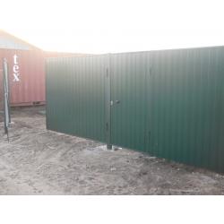 Забор из профлиста цвет