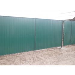 """Забор из профлиста цвет """"Зеленый мох"""" под """"ключ"""""""