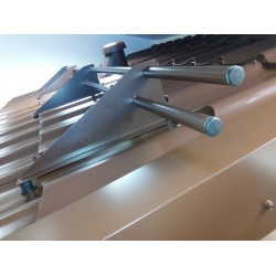 Снегозадержатель Трубчатый для кровли, металлочерепица, профлист Ral 8017 - Шоколад
