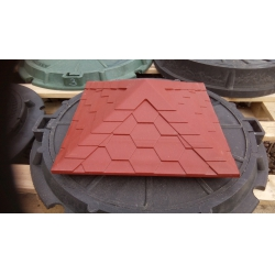 Колпак полимер-песчаный на кирпичный столб 385*385мм Красный
