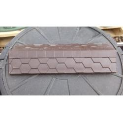 Парапет полимер-песчаный на кирпич 500*180мм Шоколад