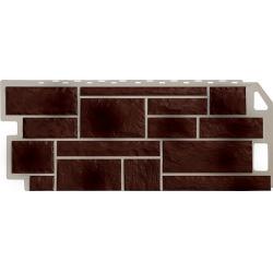 Фасадная панель FineBer (Цокольный сайдинг) Камень Коричневый