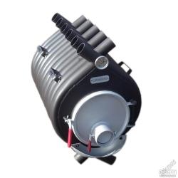 Печь воздухогрейная, буржуйка, булерьян БВ-180 Сибирь Мощность 11 кВт/ Отапливаемая площадь 100 -150 м2
