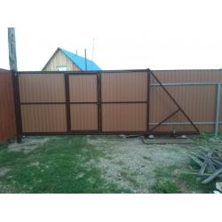 """Откатные ворота 4*2 со встроенной калиткой под """"ключ"""""""