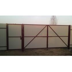 """Распашные металлические ворота и калитка с установкой под """"Ключ"""""""