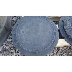 Люк полимер-песчаный для колодца/септика (А-15) 560/730 Черный