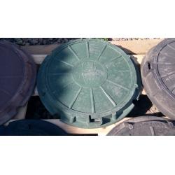 Люк полимер-песчаный для колодца/септика (А-15) 570/730 Зеленый