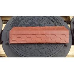 Парапет полимер-песчаный на кирпич 500*180мм Красный