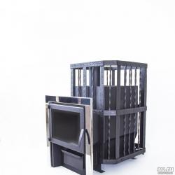 Печь банная Катунь с панорамным стеклом до 24 м3
