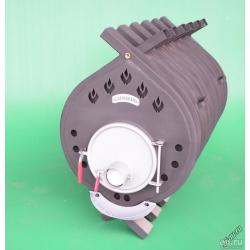 Печь воздухогрейная, буржуйка, булерьян БВ-720 Сибирь Мощность 41 кВт/ Отапливаемая площадь 300-600 м2.