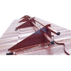 Снегозадержатель Трубчатый для кровли, металлочерепица, профлист Ral 3005 - Красное вино