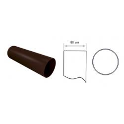 Труба водосточная 90мм Vinylon (Винилон) Водосточная система, цвет белый, коричневый